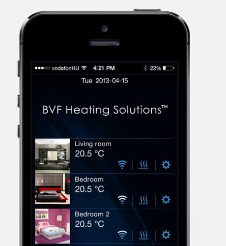 BVF Syme mobil alkalmazással vezérelheti otthona fűtését